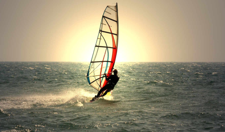 виндсерфинг, море, спорта, спортсменка, волны, счастливцево, спорт, отдыха, взгляд,