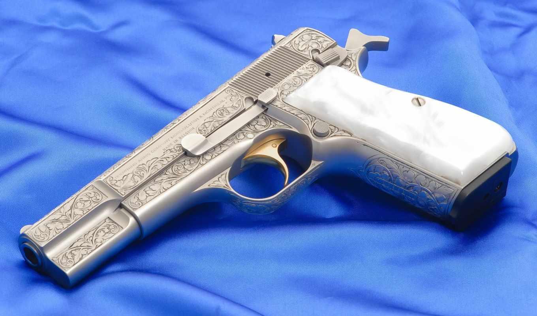 оружие, картинка, картинку, серебряный, золотой, гравировка, курок, пистолет, зброя,