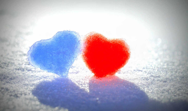 azul, amor, coração, rojo, vermelho, pantalla, fondo,