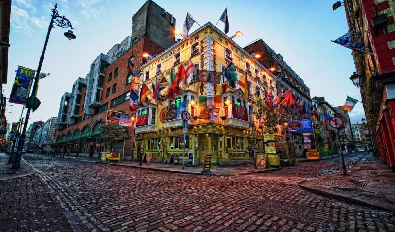 ирландский, дублин, bar, город