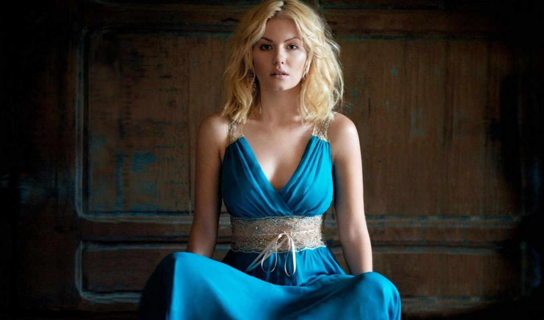 elisha, cuthbert, платье, голубое,