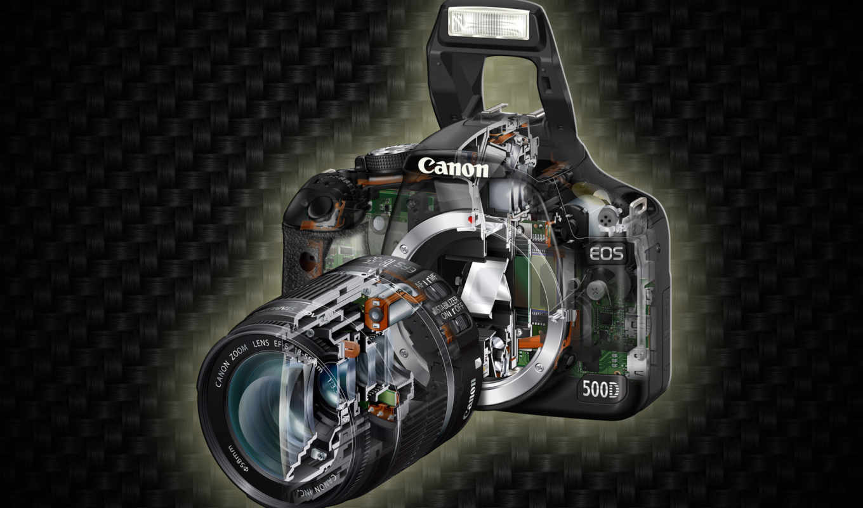 canon, фотоаппарат, eos, сечение