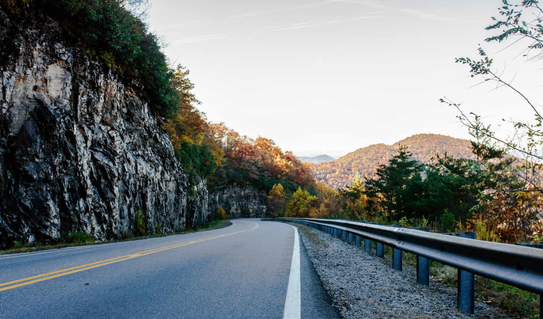 горы, usa, this, осень, дорога,