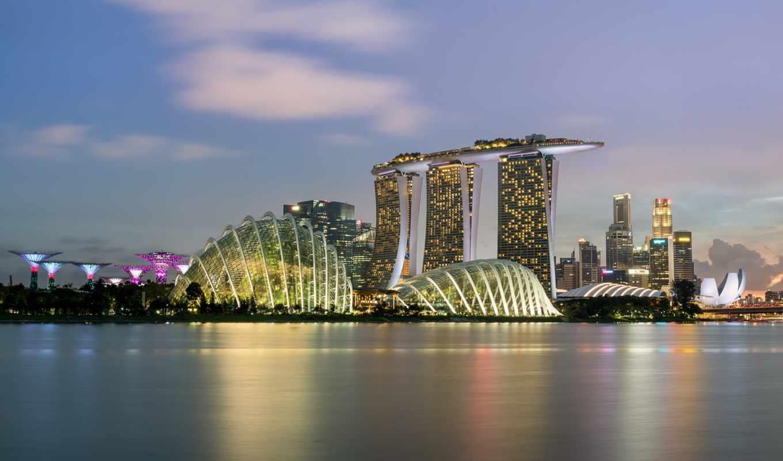 singapore, iphone, skyscrapers, город, небоскребы,