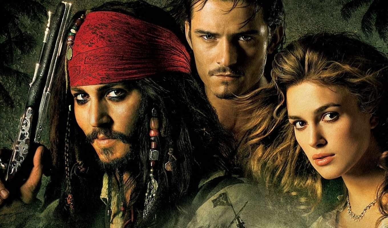 обои, пираты, моря, карибского, johnny, depp, pira