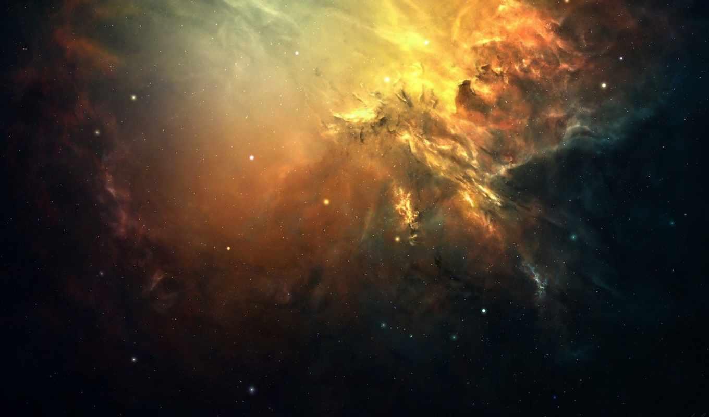 космос, звезды, туманность, арт, свечение, скопление, download, desktop, click,