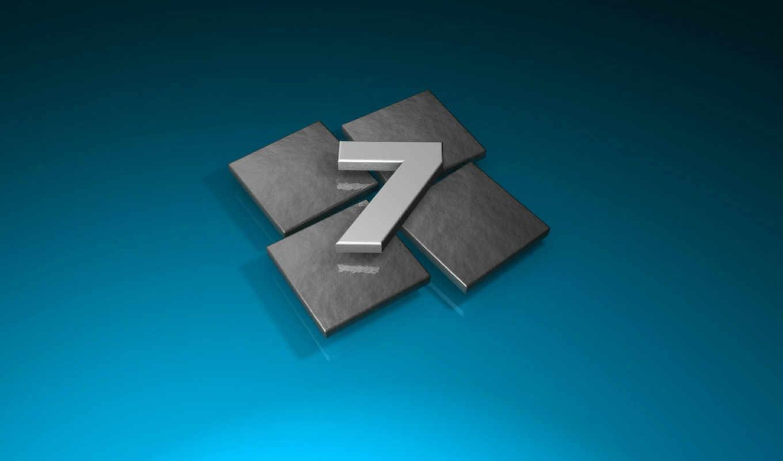 windows, se7en, лого, плитка, серый