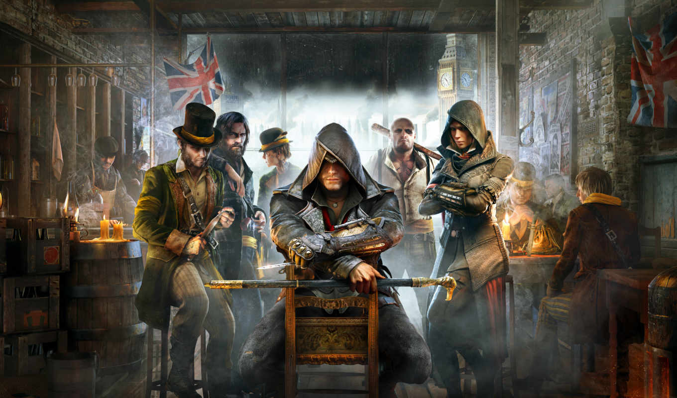 creed, assassin, syndicate, assassins, parede, игры, papel, para, обзор,