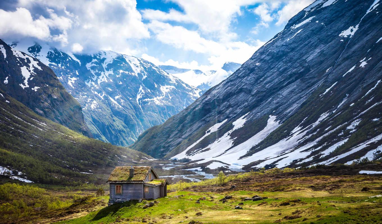 природа, пейзажи -, горы, landscape, пейзажей, кавказа, art, summer,