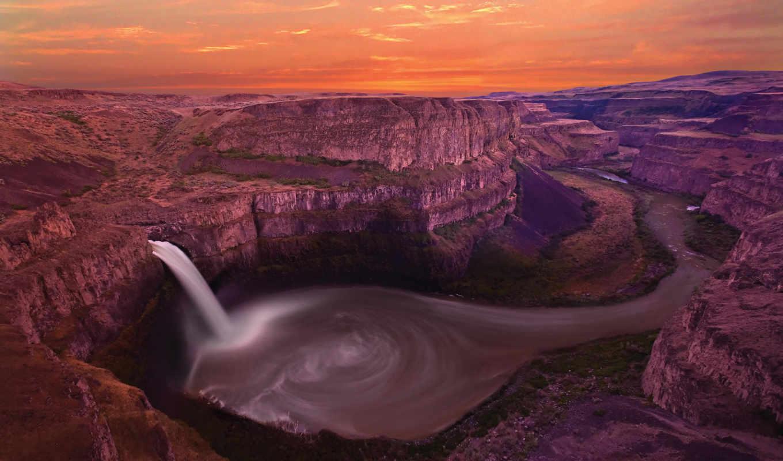 falls, palouse, washington, природа, usa, об, река, free,