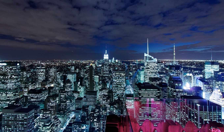 fondos, pantalla, edificios, manhattan, para, fondo, rascacielos, foondos,