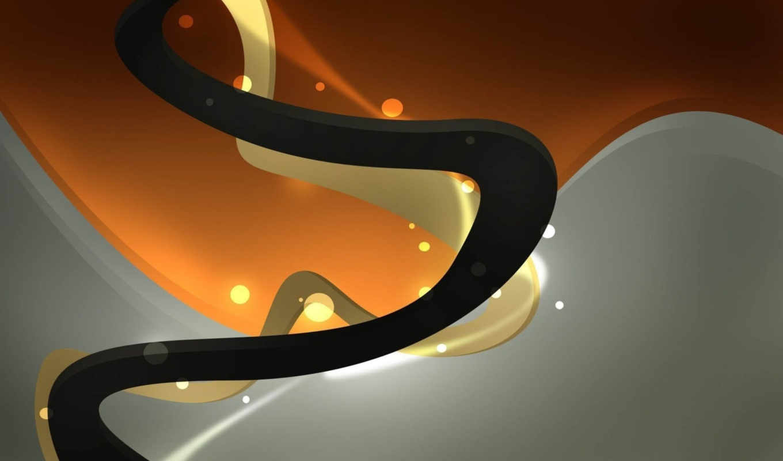желтый, черный, линии, orange, swirls, widescreen, abstract,