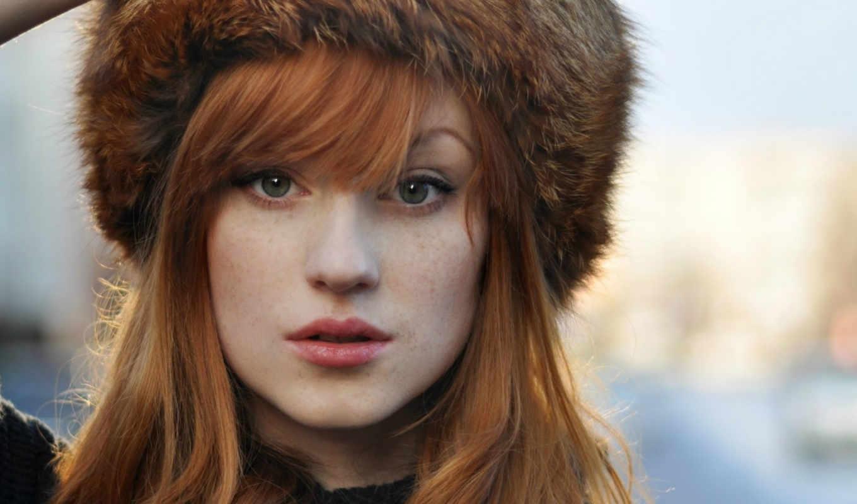 янв, девушек, девушки, милые, рыжими, волосами,