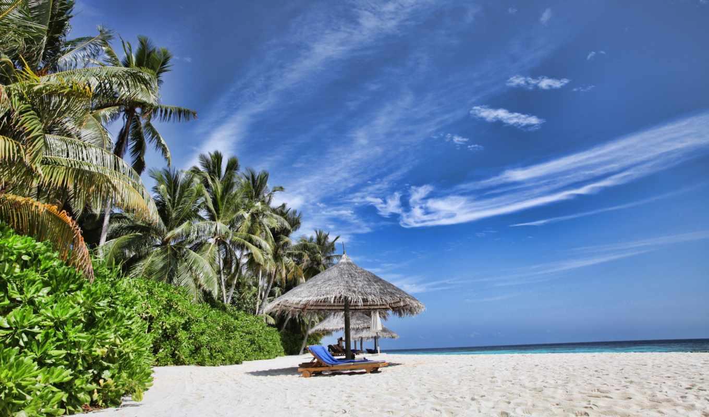 tropical, море, природа, отдых, maldives, пляж,