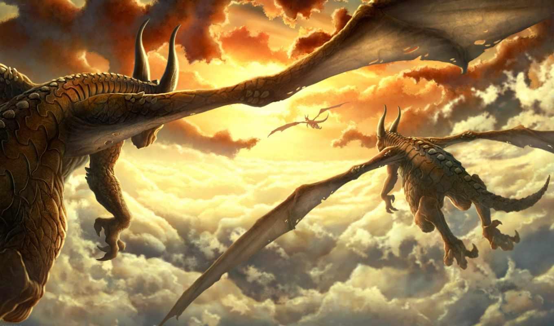 драконы, дракон, фэнтези,