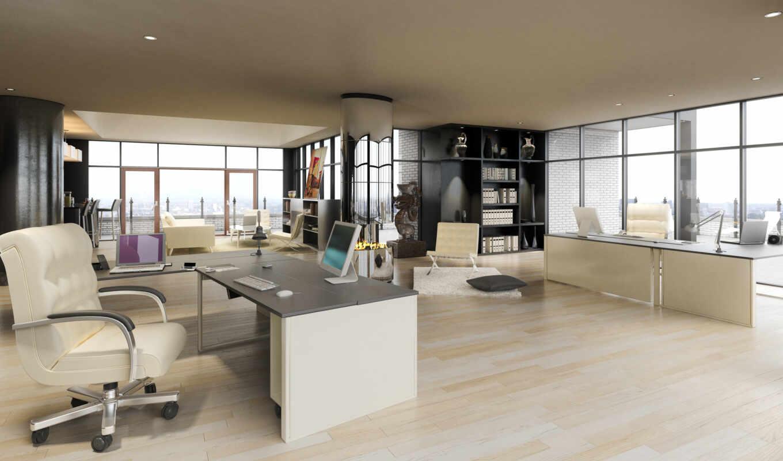 ,офис, светлый, столы, окна,кресло