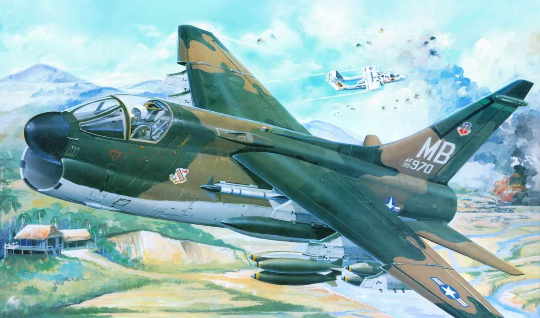 corsair, авиация, рисованные, самолеты, vought, trumpeter, pr,
