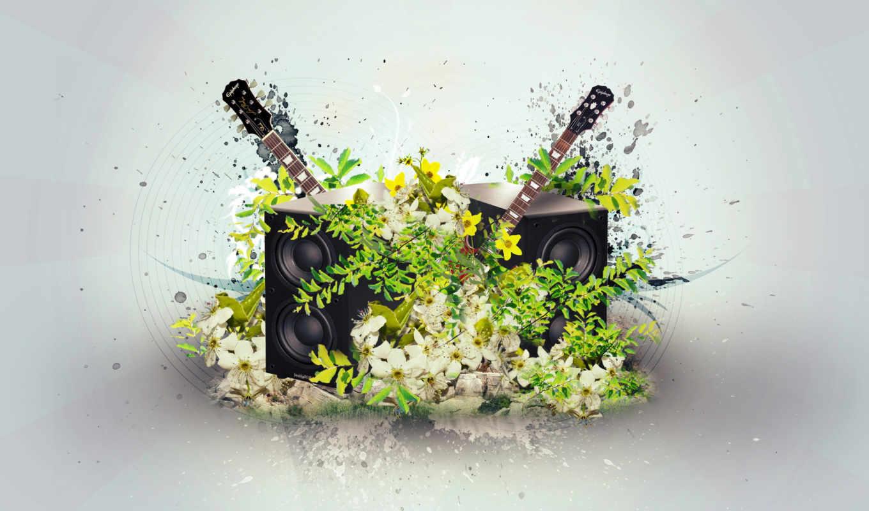 музыка, цветы,