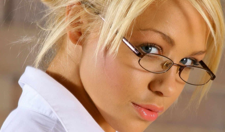 очки, зрения, девушки, очках,