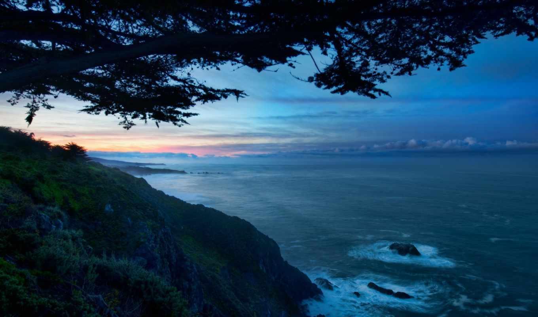 океан, пейзажи -, voda, priroda, скалы, вид, walls, more,