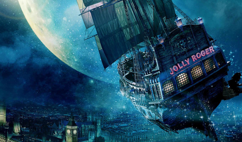 корабль, роджер, pan, peter, cheerful, размеры, canvas, сниматься, ткани,