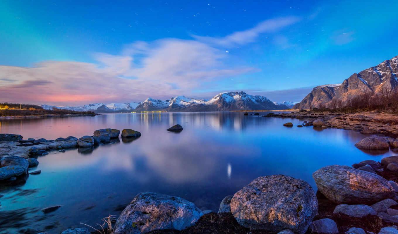 природа, острова, лофотенские, landscape, норвегия,