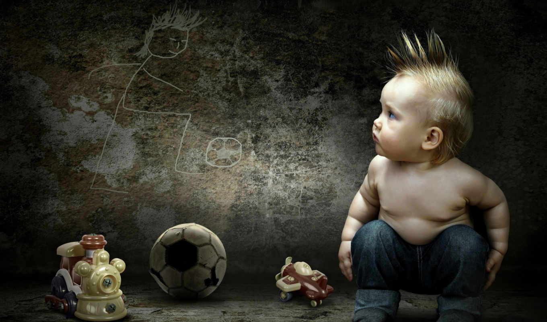 boy, ребенок, малыш, игрушки, девушка, рисунок,