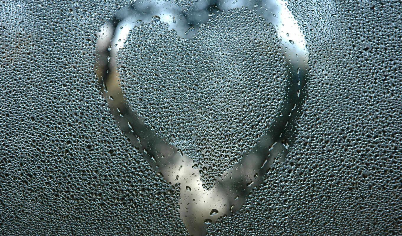 сердце, glass, плачущий, окно