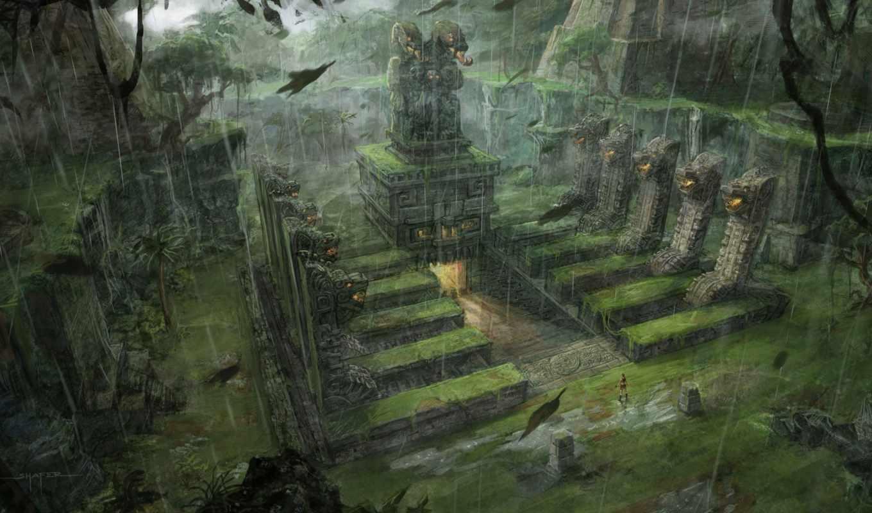 tomb, raider, fantasy, арт, игровой, underworld, игры, croft, space,