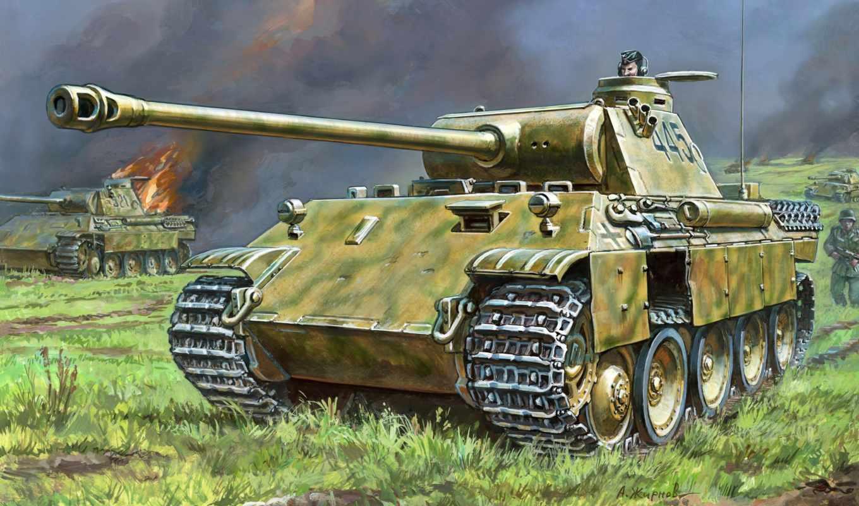 star, panther, танк, ausf, модель, german,