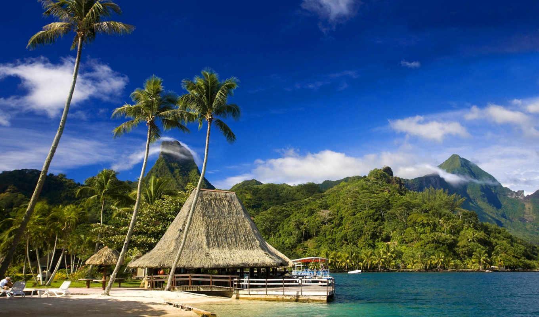 tahiti, острова, остров, bora, островов, французской, полинезии, двух, площадь, квадратных, со,