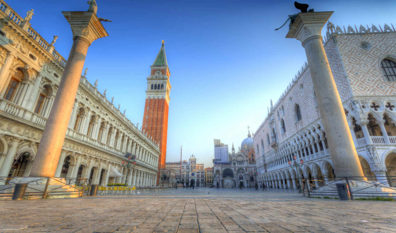 улица, venice, город, piazza, san, marco, тег, картинка, house, build