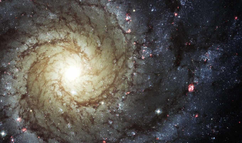 звезды, галактика, спиральная, газ, space,