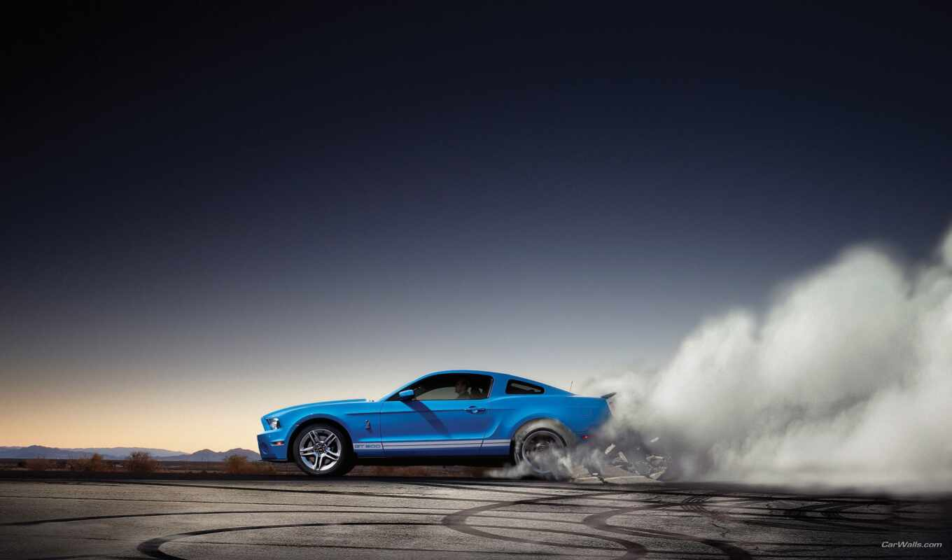 ford, mustang, shelby, burnout,