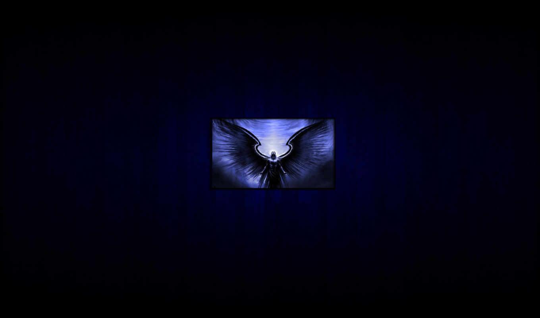 минимализм, рамка, демон, дерево,