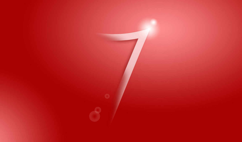 windows, seven, red, logo