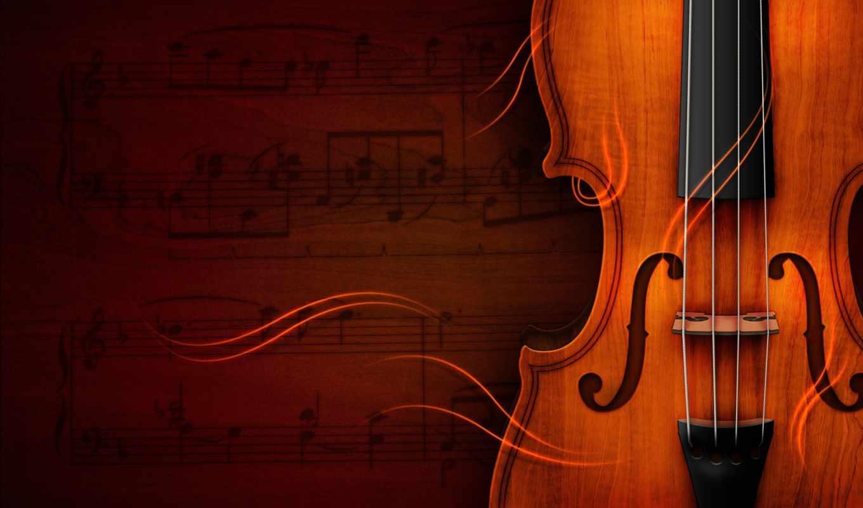 скрипка, instrumentos, ноты