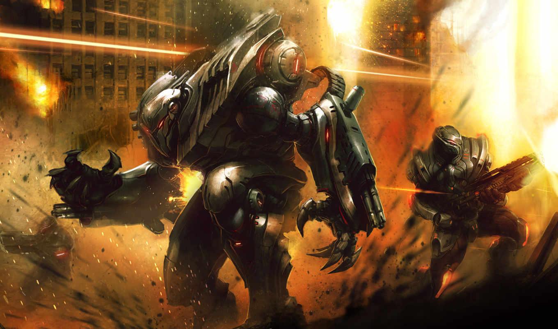 robot, combat, игр,