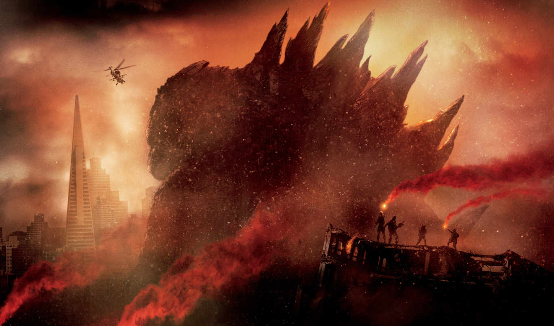 godzilla, trailer, фильма, город, качестве, огонь, top, разрушения, video,