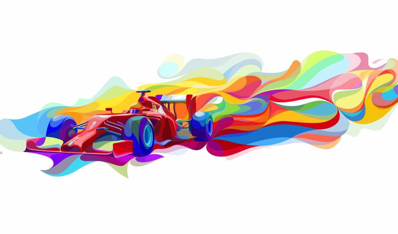car, formula, абстракция, авто, one, ferrari, skuderii, racing
