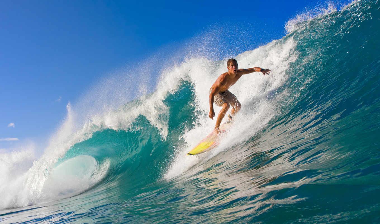 лето, море, вода, спорт, океан, волны, сёрфинг,