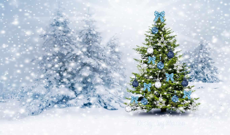 новорічна, ялинка, christmas, winter, только, заставки, дерево,