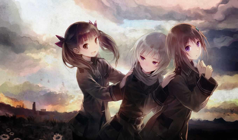 sora, woto, anime, wo, ра,