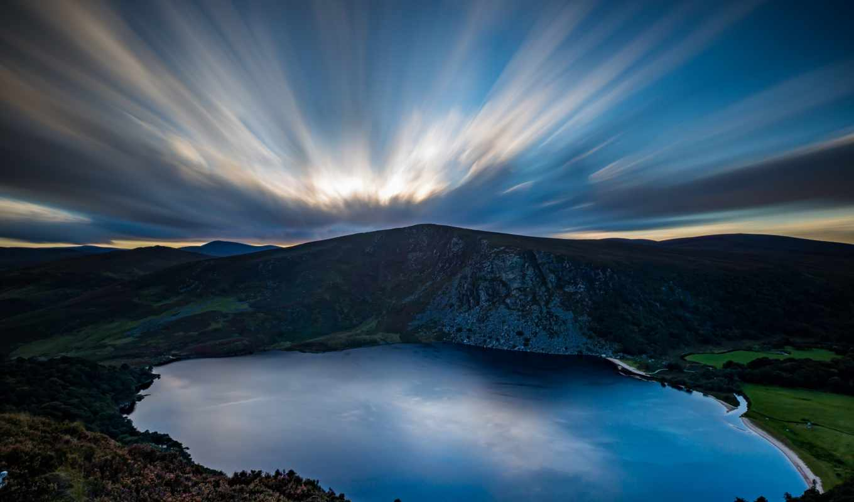 Небо горы блики  № 3013041 бесплатно