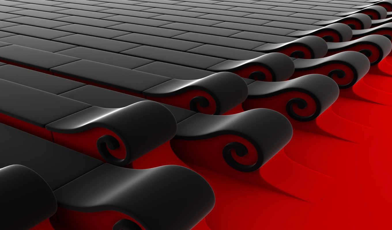 , red, abstr,
