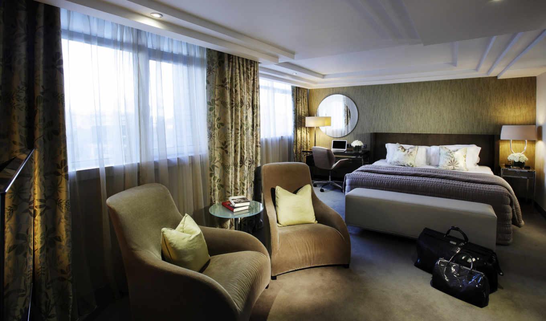 занавески, окно, комната, кресла, подушки, hotel, постель, yatak, marylebone, интерьер, image, hotels, dekor, odası,