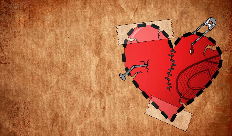 сердце, разбитое, blue, картинка, glass,