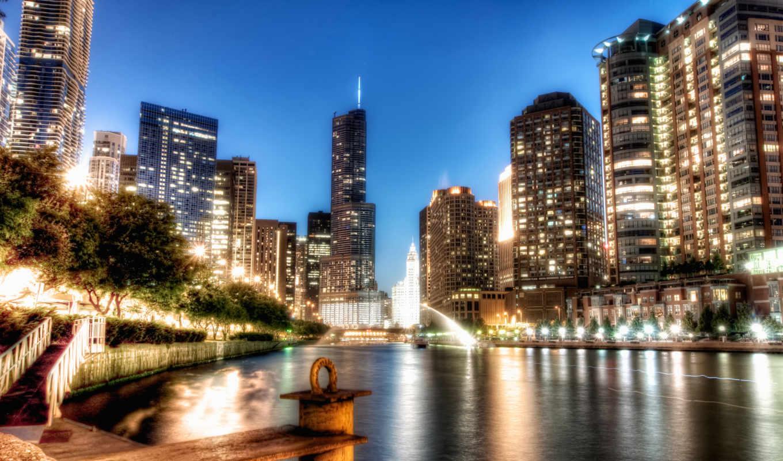 chicago, hdr, noche, nuit, fotos, new, город, york, коллекция, ciudad,