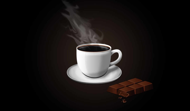 кофе, шоколад, чашка, минимализм, вектор, изображения,
