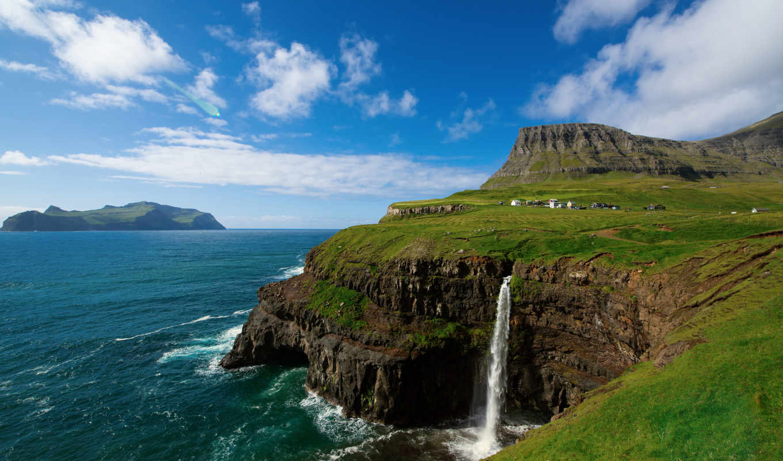 , faroe, gaasedal, islands,